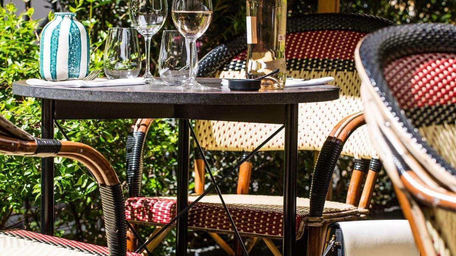 Enjoy the terrace at the Roch Hotel & Spa